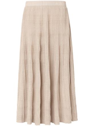 Plisserad kjol från Uta Raasch guld
