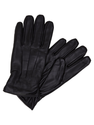 JACK & JONES Leather Gloves Men Black
