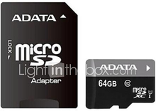 adata Micro SD / TF muistikortti w / sd sovitin - 64 Gt (luokka 10)