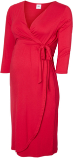 MAMA.LICIOUS Jersey Wrap Maternity Dress Kvinna Röd