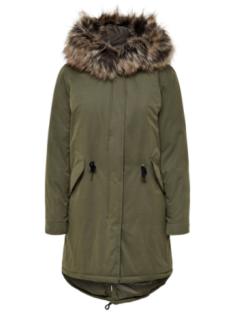 ONLY Down Coat Women Green