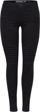 ONLY Onlroyal Regular Biker Skinny Fit Jeans Women Black