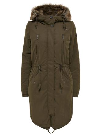 ONLY Long Parka Coat Women Green