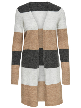 ONLY Long Knitted Cardigan Women Brown