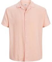 JACK & JONES Enfärgad Kortärmad Skjorta Man Rosa