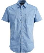 JACK & JONES Svängd Fåll - Kortärmad Skjorta Man Blå