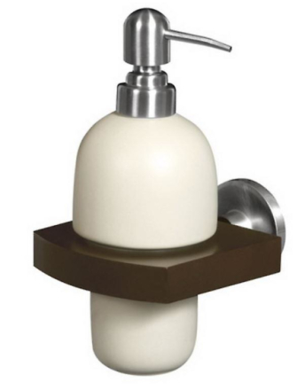 Heltre og Zamak vegg montert grep + flytende såpe keramikk Dispenser