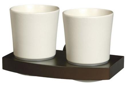 Bisk Heltre og Zamak vegg montert keramikk dobbel Toothmug tannbørs...