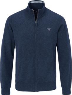 Cardigan 100% ren ny uld/lambswool Fra GANT blå