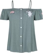 Alice in Wonderland - Klokke -T-skjorte - mint