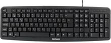 DELTACO Deltaco tangentbord, nordisk layout, USB, svart TB-53 Replace: N/ADELTACO Deltaco tangentbord, nordisk layout, USB, svart