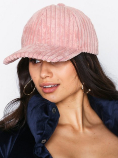 NLY Accessories Corduroy Cap Dusty Pink