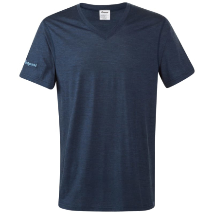 Bergans Bloom Wool Tee Herr T-shirt Blå L