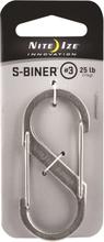 Nite Ize S-Biner #3 øvrig utstyr Grå 3