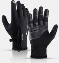Unisex Fleece Screen Touchable Wasserdicht Winter Outdoor Warm halten Wasserdicht Radfahren Vollfingerhandschuhe