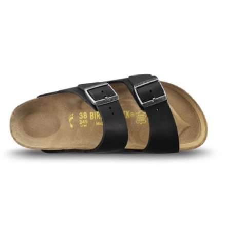 Birkenstock Arizona Oiled Leather Slim Unisex Sandaler Svart 38
