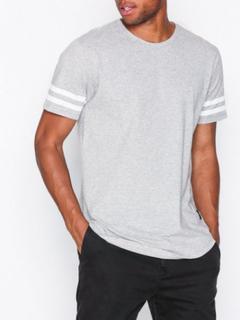 Only & Sons onsMATT Longy Stripe Tee New Exp T-shirts & linnen Ljus Grå