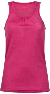 Bergans Cecilie Wool Singlet Dame kortermede trøyer Rosa XS