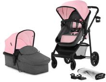 Kinderkraft Yhdistelmävaunut Juli 2 in 1, pink - roosa/pinkki