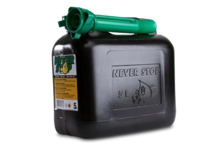 Bränsledunk 5 liter - med Autostop påfyllningspip