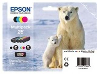 Bläckpatron EPSON 26 - svart och färg