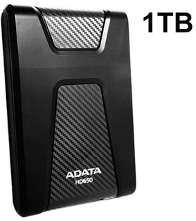 Adata HD650 USB 3.1 Ekstern Harddisk - 1TB - Sort