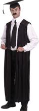 Lærer kostyme - sort