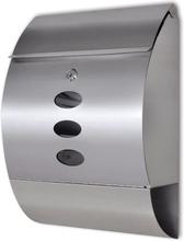 vidaXL Brevlåda i rostfritt stål