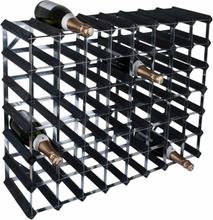 RTA Påbyggningsbart vinställ 56 flaskor - Svart