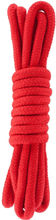 Hidden Desire: Bondage Rope, 3m, röd