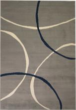 vidaXL Modern matta cirkeldesign 120x170 cm grå