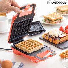 2-i-1 vaffel- og sandwichmaskine med opskrifter Wafflicher InnovaGoods