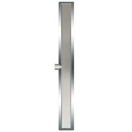 L'Aqua deluxe lineært bruseafløb 90 cm rustfrit stål