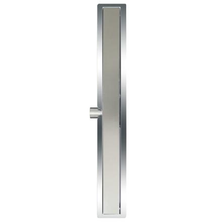 L'Aqua deluxe lineært bruseafløb 80 cm rustfrit stål
