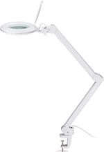 Dimmable LED clip magnifier lamp 4W/8W white
