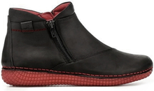 Green Comfort Boots Black Red