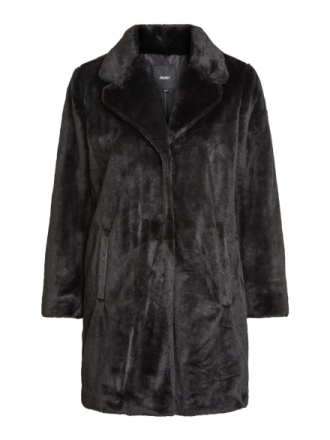 OBJECT COLLECTORS ITEM Faux Fur Coat Women Black