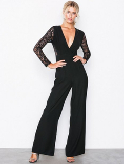 Missguided Lace Sleeves Jumpsuit Jumpsuits