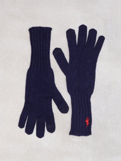 Polo Ralph Lauren Cable Wool Gloves Navy