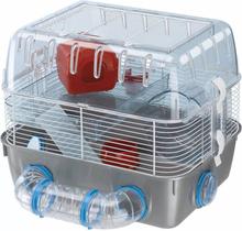 Ferplast hamsterbur Combi 1 Fun grå 40,5 x 29,5 x 32,5 cm 57926499