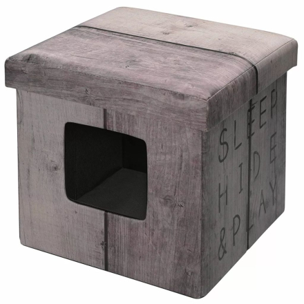 D&D ottoman til kæledyr Sleep Hide Play 38 x 38 x 38 cm lysebrun 434/431610