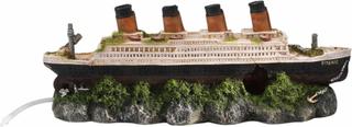 Aqua d'ella Shipwreck Titanic med luftsten 39x11x17 cm 234/237601