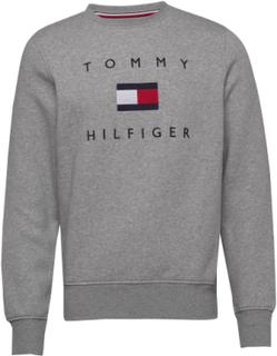 Tommy Flag Hilfiger Sweatshirt Sweatshirt Trøje Grå Tommy Hilfiger