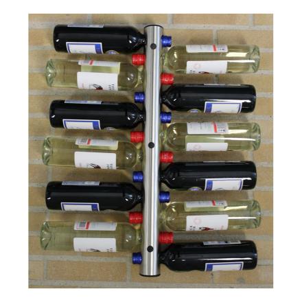 Väggmonterat Vinställ i Rostfritt - 12 flaskor