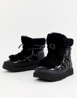 Ugg Highland Waterproof Boot in Black - Black