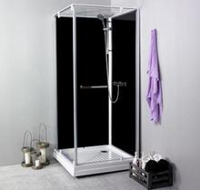 Noro Ocean 79C duschkabin med svarta bakväggar, 70x90 cm, vändbar