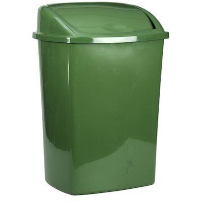 Affaldsspand, 20x25,2x33cm, 8 l, hvid, plast, sving låg