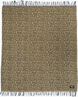 Stussy - Faced Leopard Plaid Blanket - Multi - ONE SIZE