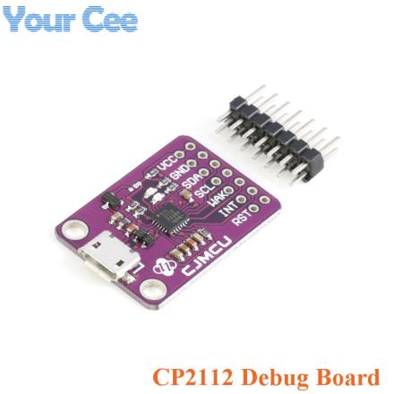 CP2112 Debug Board USB to SMBus I2C Communication Module 2.0 MicroUSB 2112 Evaluation Kit for CCS811 Sensor Module