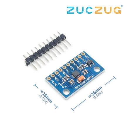 1Set SPI IIC/I2C GY-9250 MPU 9250 MPU-9250 9-Axis Attitude +Gyro+Accelerator+Magnetometer Sensor Board Module MPU9250 3-5V
